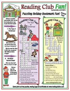 Bundle: Christmas and Holidays Two-Page Activity Sets and puzzle