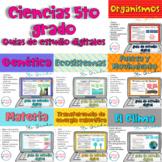 Bundle Ciencias 5to grado guías de estudio digitales