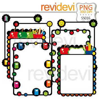 Bundle Clip Art Special - Collection 20 / Back to school Borders Clipart