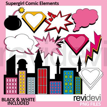 Bundle Clip Art / Superhero Comic Graphic
