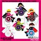 Bundle Clip Art Superhero kids in wheelchair / disability, special needs