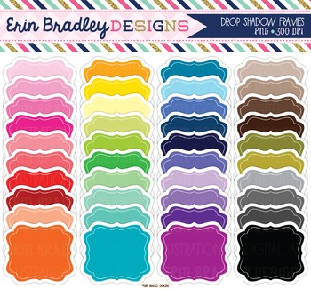 Bundle Clipart - Labels with Drop Shadow