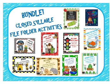 Bundle - Closed Syllable File Folder Activities