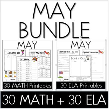 Bundle - Common Core Crunch May - Math & ELA CCSS Printables   TpT