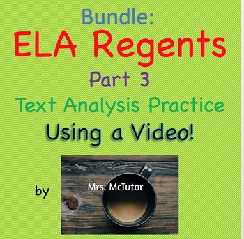 Bundle: Common Core ELA Part 3 - Practicing Using a Video Instead of a Text