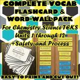 Bundle: Complete Vocab Flashcard & Word Wall Pack for Chemistry Science TEKS