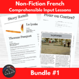 Bundle - Comprehenisble Input for beginning French learners