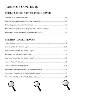 "Bundle: Conan Doyle Biography & ""The Red-Headed League"" (37 P., Ans. Keys, $14)"