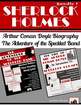 """Bundle: Conan Doyle Biography and """"Speckled Band"""" (39 Pgs."""