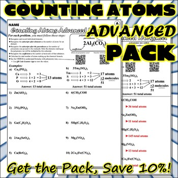 Bundle Counting Atoms ADVANCED Pack By Travis Terry TpT