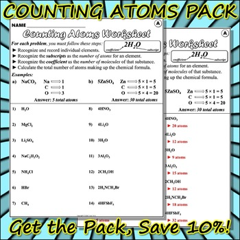 Bundle: Counting Atoms Pack