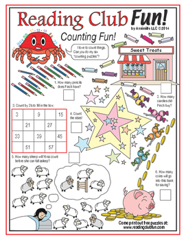 Bundle: Counting Two-Page Activity Set and Math Puzzles
