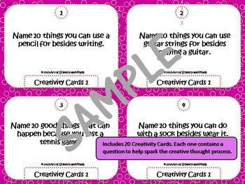 Bundle - Creativity Cards Volumes 1, 2, and 3 - For all ages