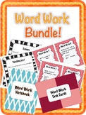 Bundle! Daily 5 Word Work Task Cards and Notebook Bundle