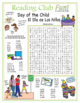 Bundle: Day of the Child Two-Page Activity Set and Crossword Puzzle