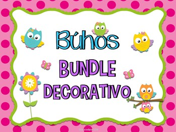 Bundle Decorativo Búhos