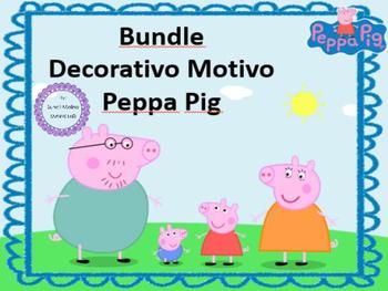 Bundle Decorativo Motivo Peppa Pig