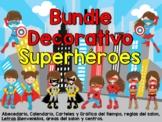 Bundle Decorativo Superhéroes / Spanish Superheroes decor bundle