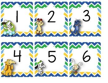 Bundle Días, meses, nameplates y números para el calendario - Doki