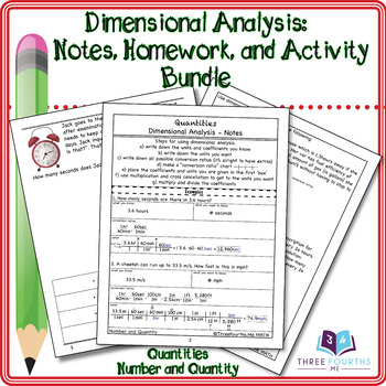 Bundle: Dimensional Analysis