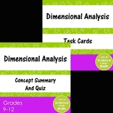 Bundle - Dimensional Analysis and Task Cards - High School Science and Math