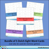 Bundle: Dolch Sight Words cards and memory game