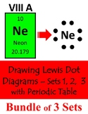 BUNDLE of LESSONS - Drawing Lewis Dot Diagrams - Sets 1, 2, 3 + Periodic Table
