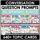 Bundle: ESL Conversation Question Card Sets (over 600 diff