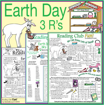 Earth Day 3 R's Puzzle Pack – Activity Set, Word Search and Dual Crossword