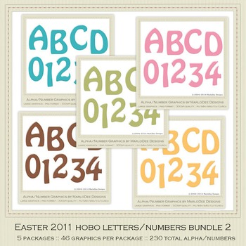Bundle Easter 2011 Candy Gloss Alpha Letters & Number Graphics 2