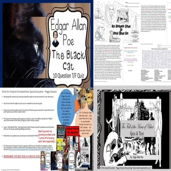 Poe Bundle Raven, Cask, Masque, Black Cat, Usher, Premature Burial SPED/ELD/ODD