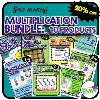 Multiplication and Arrays Bundle