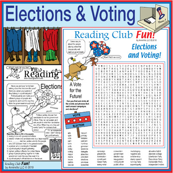 Bundle: Elections, Voting, and Political Parties 2-Page Ac