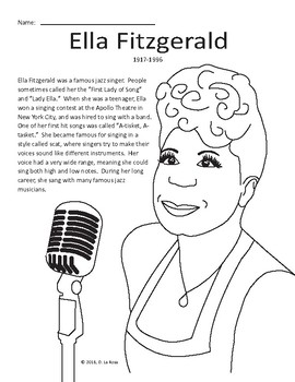 Bundle: Ella Fitzgerald/Duke Ellington/Louis Armstrong Worksheets