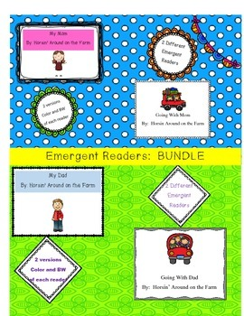 Bundle-4 Emergent Readers: Mother's Day and Father's Day