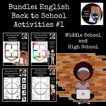 Bundle: English Back to School Activities #1