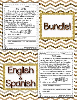 "Bundle!  English-Spanish ""What Is Chocolate?"" Informational Reading"