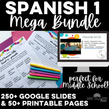 Mega Bundle: Essential Spanish 1 - novice Spanish