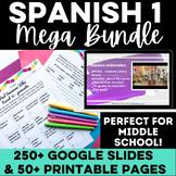 Essential Spanish 1 - Novice Spanish class MEGA BUNDLE pre