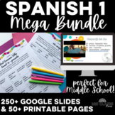 Mega Bundle: Essential Spanish 1 - novice Spanish