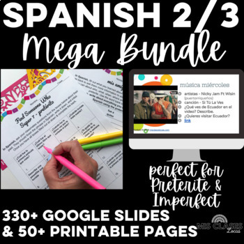 Mega Bundle: Essential Spanish 2 or Spanish 3