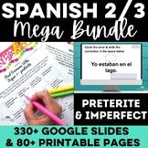 Essential Spanish 2 or Spanish 3 - MEGA BUNDLE Spanish preterite imperfect