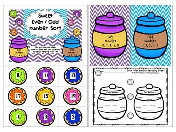 Bundle - Even and Odd Numbers to 99