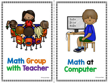 Reading & Math Rotations - Posters & Pocket Chart Cards BUNDLE