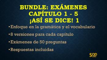 Bundle: Exámenes Capítulos 1-5 ¡Así se dice! 1 Versión Scantron