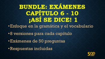 Bundle: Exámenes Capítulos 6-10 ¡Así se dice! 1 Versión Scantron