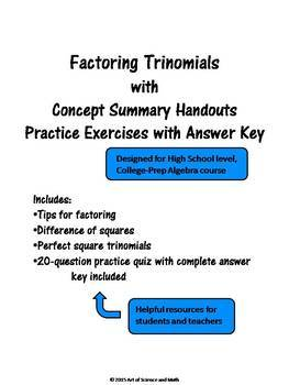 Bundle - Factoring Trinomials and Task Cards - High School Math