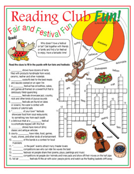 Bundle: Fairs and Festivals Two-Page Activity Set and Word Search Puzzle