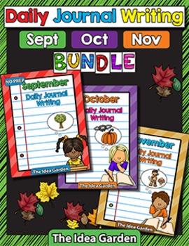 Fall Bundle - Daily Journal Writing - NO PREP (Sept/Oct/Nov)