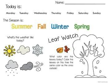 Bundle Fall Morning Work PreK and Kindergarten & 1st Grade